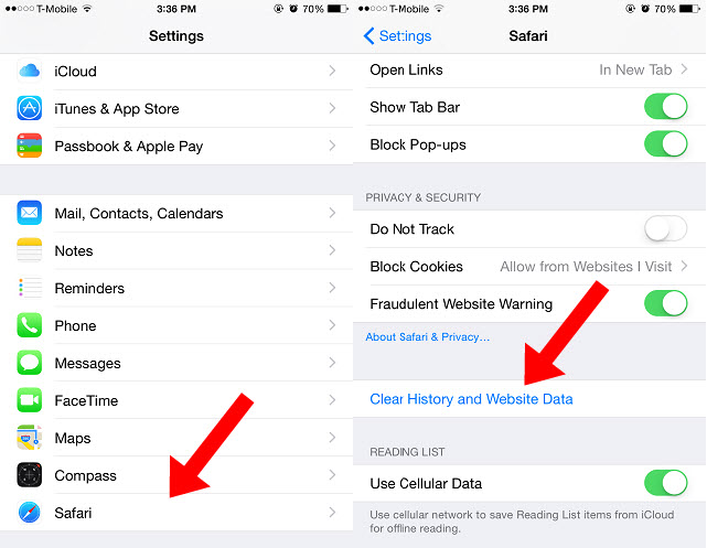 how to clear itunes cache